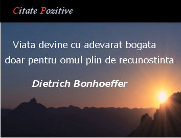 Dietrich Bonhoeffer Citate Pozitive