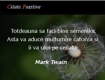 Mark Twain Citate Pozitive